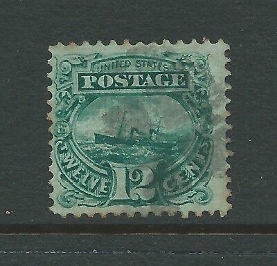 USA 1869 12c USED SEE  BOTH SCANS FOR CONDITION