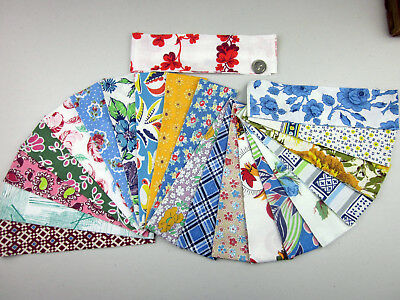 Vintage 100% COTTON FEEDSACK LOT of 20 JELLY ROLL QUILT PRINTS (Plus Bonus)