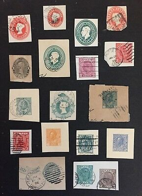 Canadian Stamp Selection of Postcard Squares
