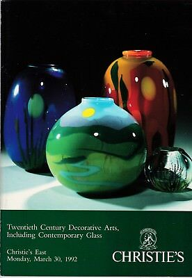 20th Century Decorative Works of Art CHRISTIE'S 1992 Contemporary Glass Galle