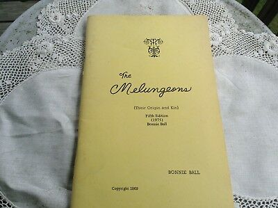 The Melungeons Origin & Kin 1969 Bonnie Ball TN KY Cumberlands History Genealogy