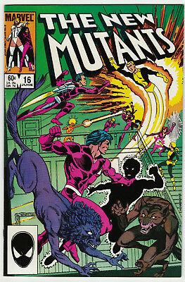 The New Mutants #16 1st Appearance of Warpath - Marvel 1984 VF