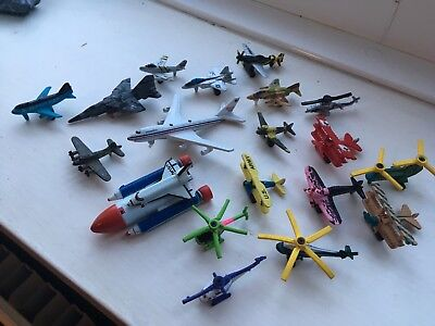 Large Collection job lot 19x micro machines planes helicopters and aircraft rare