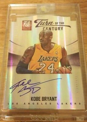 2012-13 Panini Elite TURN OF THE CENTURY Kobe Bryant  #151/199 DIE-CUT AUTO