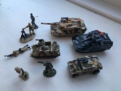 Collection job lot micro machines military army tanks and soldiers rare
