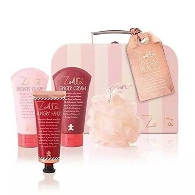 Zoella Let's Go Places Gift Set For Her Case With Creams And Bath Bits
