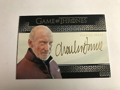 2017 Game Of Thrones Valyrian Steel AUTOGRAPH Charles Dance As Tywin Lannister