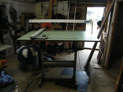 A0 Draughtsman's table, drawing stand, with draughting machine
