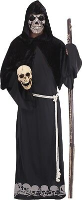 Grim Reaper Adult Large Halloween Death Costume And Mask Set