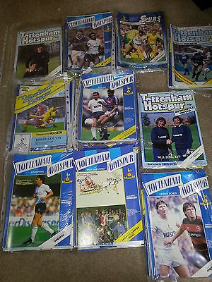 5 Spurs league  home and cup programmes  v Watford