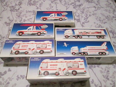 SERVCO HESS TRUCK LOT of 6 - 1995, 1998, 1999, AND 2000 Includes 2 1995 and 1999