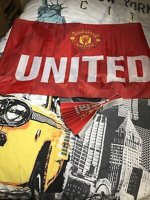 Manchester United Flag And Clapper Stockholm