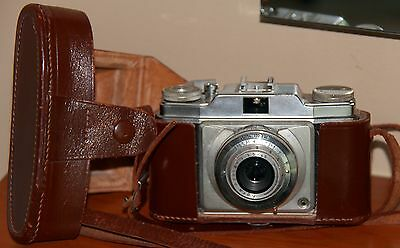 Agfa Silette Camera & Leather Case ->  Parts/Repair/Display