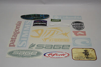15 Sticker Decal G.Loomis Patagonia Sage Simms Scott Orvis Fishpond Hardy Costa