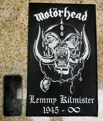 MOTORHEAD England BACK PATCH embroidered lemmy kilmister Snaggletooth Warpig