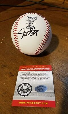 GIANCARLO STANTON SIGNED OFFICIAL HOMERUN DERBY AUTOGRAPHED BASEBALL coa