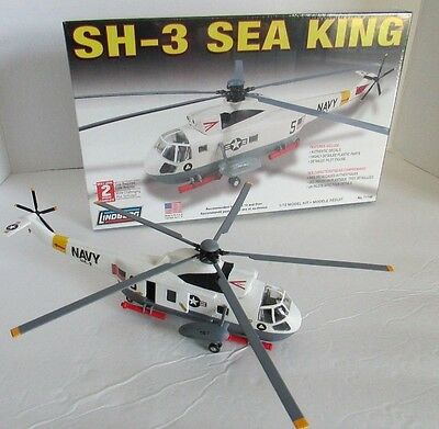 1/72 Lindberg SH-3 Sea king Navy Helicopter FACTORY SEALED UNOPENED
