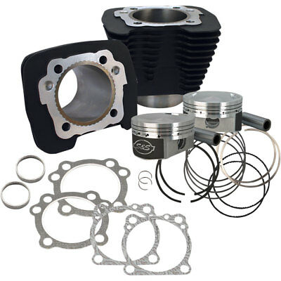 S&S Cycle Black 10.3:1 Flat Top 1250CC Conversion Kit for 86-16 Harley Sportster