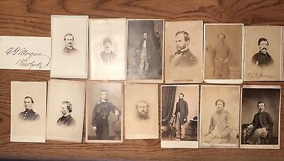 13 Civil War Soldier CDVs, 1 Autograph