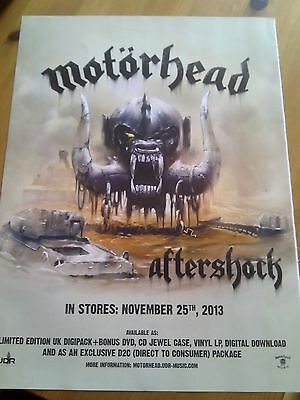 Motorhead Aftershock Album A4 to Frame Poster Lemmy Kerrang Artwork