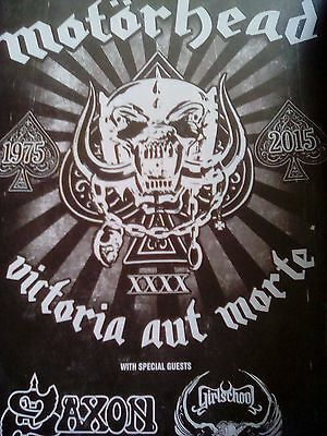 Motorhead Planned 2016 Tour Dates A4 to Frame Poster Lemmy Kerrang
