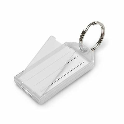Lucky Line Key Tag with Flap and Split Ring 10-Pack Clear (6051010)