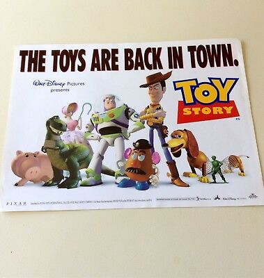 """Original TOY STORY Mini Quad Cinema Poster 16"""" X 12"""" 1995 Very Collectable."""