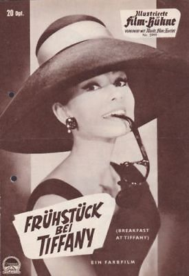 "AUDREY HEPBURN "" Breakfast at Tiffany's "" GERMANY VERSION MOVIE PROGRAM"