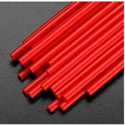 """NEW Dubro Red Antenna Tube Standard size 12-1/4x1/8"""" (24pcs) 2346"""