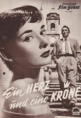 "Audrey Hepburn ""roman Holiday"" Germany Version Movie Program 1953"