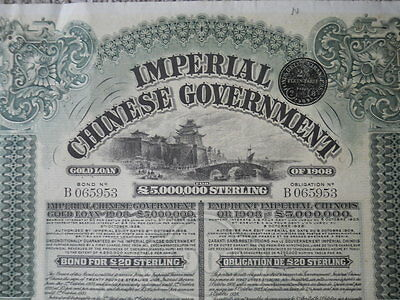 Imperial Chinese Government Gold Loan of 1908