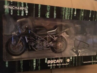 Minichamps 1:12 Die cast Ducati 996 from The Matrix Reloaded