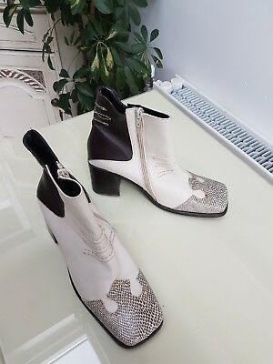 Women's vintage beige & brown ankle boots by Dune size 8 hardly worn