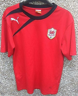 FOOTBALL CARDIFF CITY RED SHIRT by PUMA, MENS UK SIZE M, CHEST 38-41""
