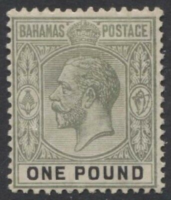 BAHAMAS KGV 1912-19 Issue £1 Scott 56  SG89  Lightly Hinged cv £200