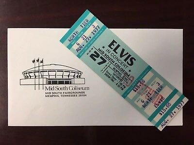 Elvis Presley Original Concert Ticket
