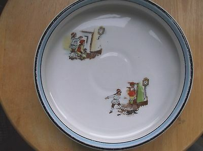 Vintage Noritake Hickory Dickory Doc Childs Dish Handpainted Marked