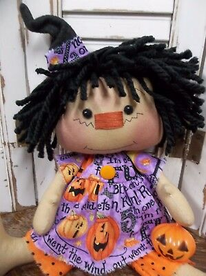 Primitive Raggedy Ann * JOL Halloween Witch *  Annie Doll Pumpkin