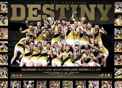 Richmond Tigers 2017 Afl Premiership Destiny Print Cotchin Martin Riewoldt Rance