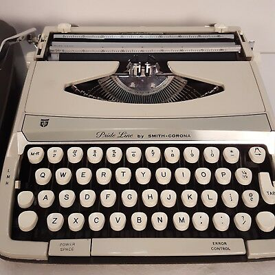 manual typewriter smith-corona pride-line