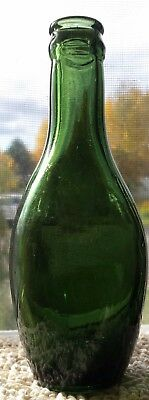 Antique Mouth-Blown Glass Bottle
