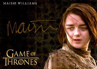 Game Of Thrones Valyrian Steel GOLD AUTOGRAPH card MAISIE WILLIAMS