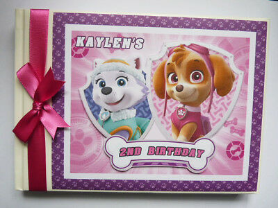 Personalised Paw Patrol Girl/boy Birthday Guest Book - Any Design
