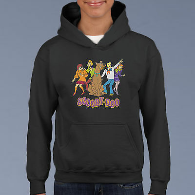 Scooby Doo & Gang Kids Hoodie, Youth Pullover Size 6-12 Cartoon Comic