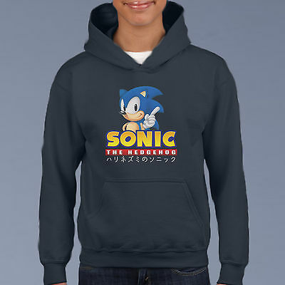 SONIC THE HEDGEHOG Kids Hoodie, Youth Pullover Size 6-12 Cartoon Comic Sweat