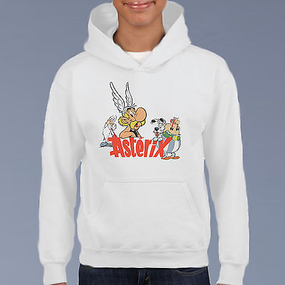 Asterix, Retro Cartoon Kids Hoodie, Youth Pullover Size 6-12 Classic Comic