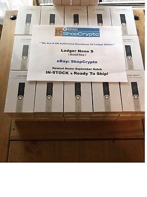 Ledger Nano S Hardware Wallet, BTC, ETH, LTC & Altcoins Brand New UK / In-Stock!