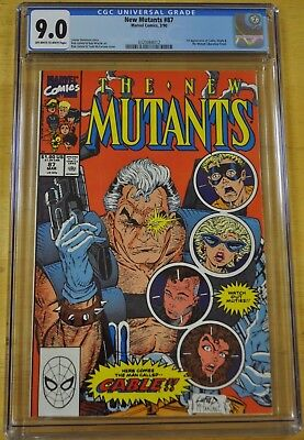 New Mutants #87 Cgc 9.0 Vf/nm 1St Appearance Cable Deadpool Wolverine Movie 98