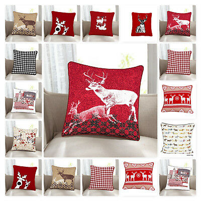 "Christmas Special 100% Cotton Cushion Cover Pillowcase Pillow Cover Size18""x18"""