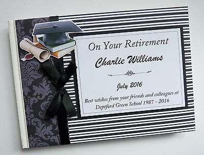 Personalised Teacher Retirement Guest Book - Any Colour